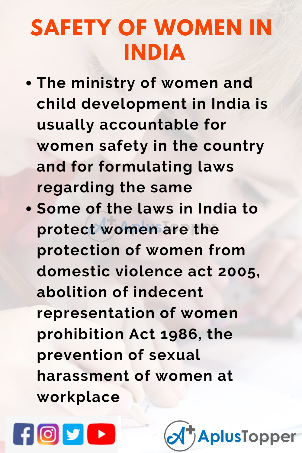 10 Lines on Safety of Women in India for Higher Class Students