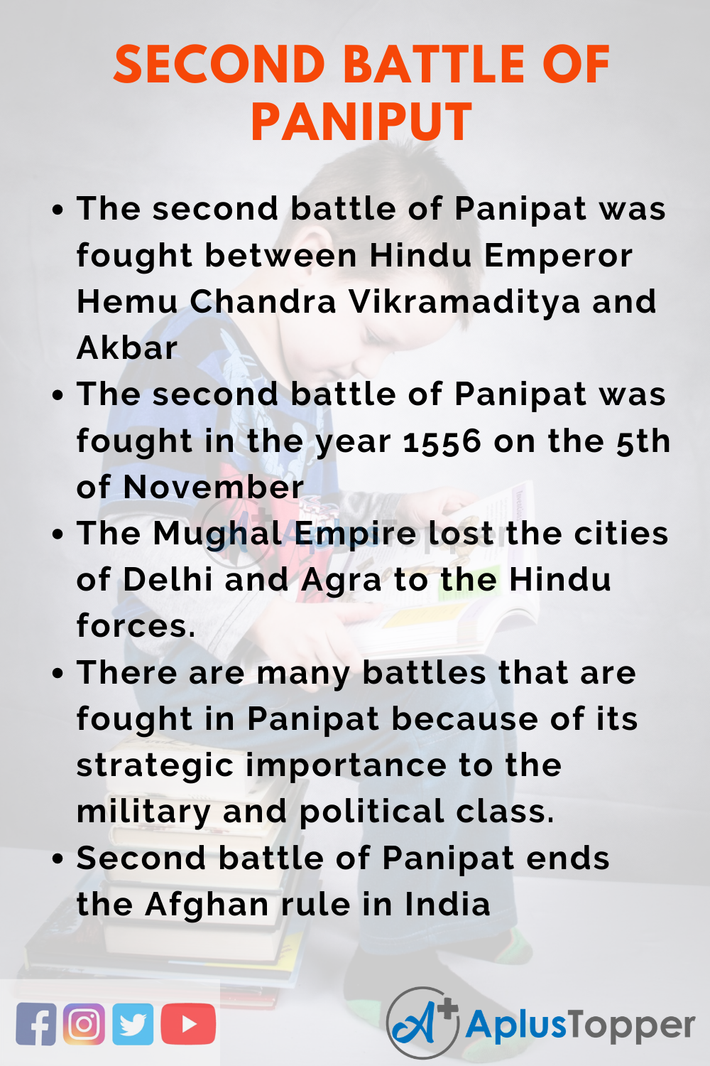 10 Lines on Second Battle Of Panipat for Kids