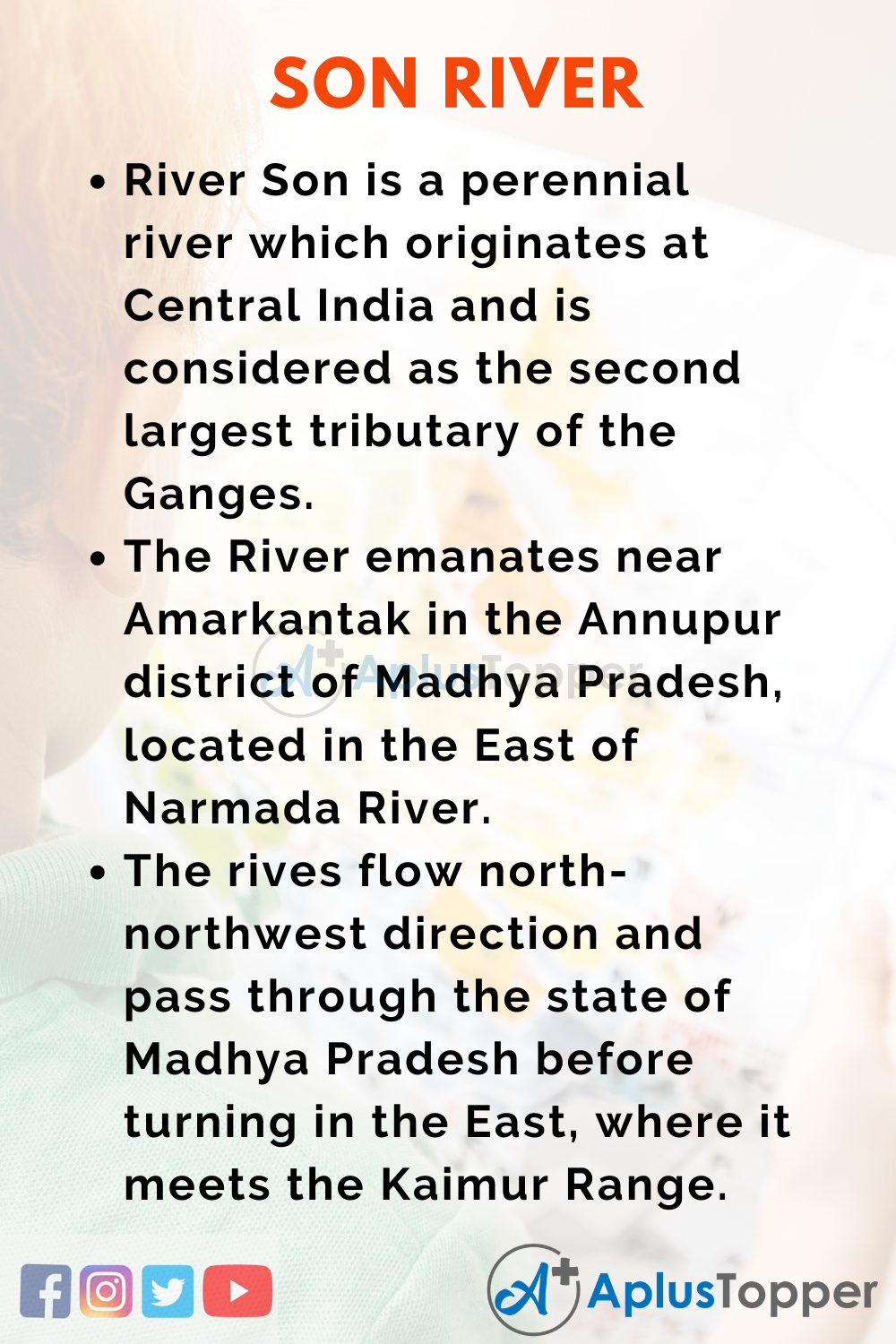 10 Lines on Son River for Higher Class Students