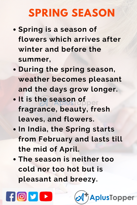10 Lines on Spring Season for Kids