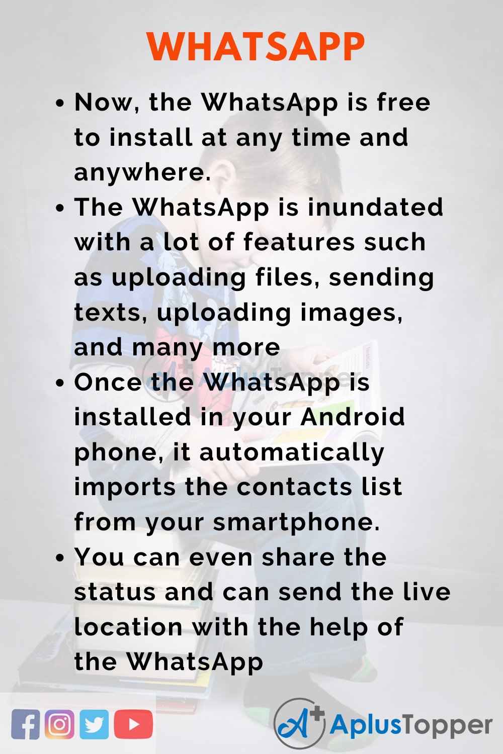 10 Lines on WhatsApp for Higher Class Students