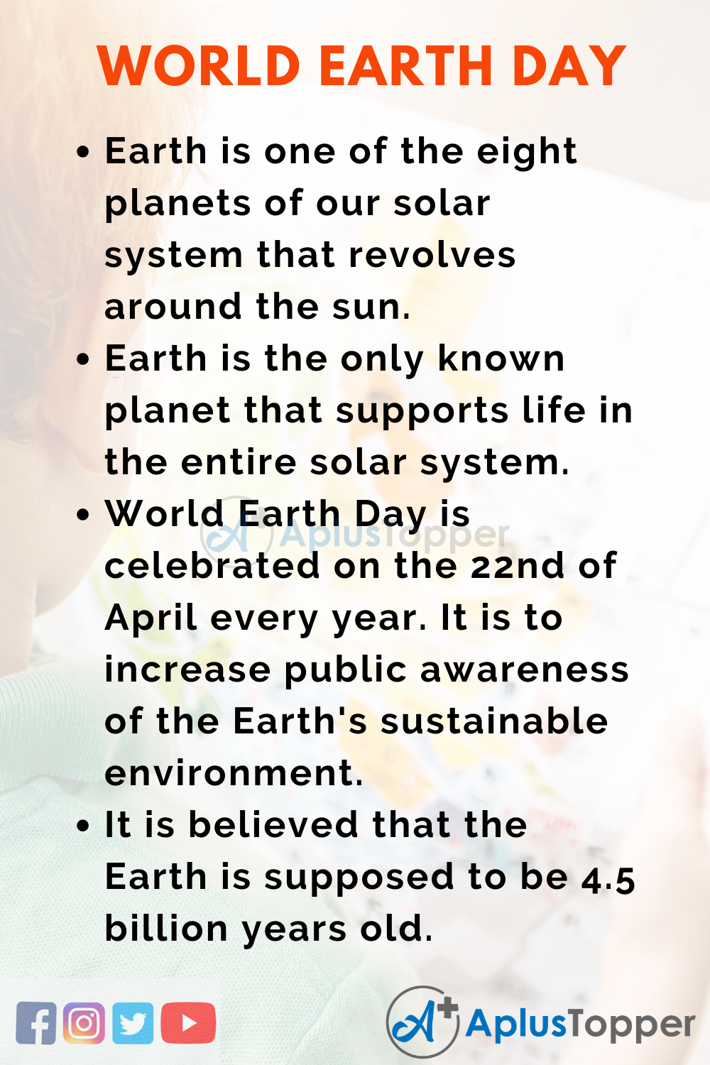 10 Lines on World Earth Day for Kids