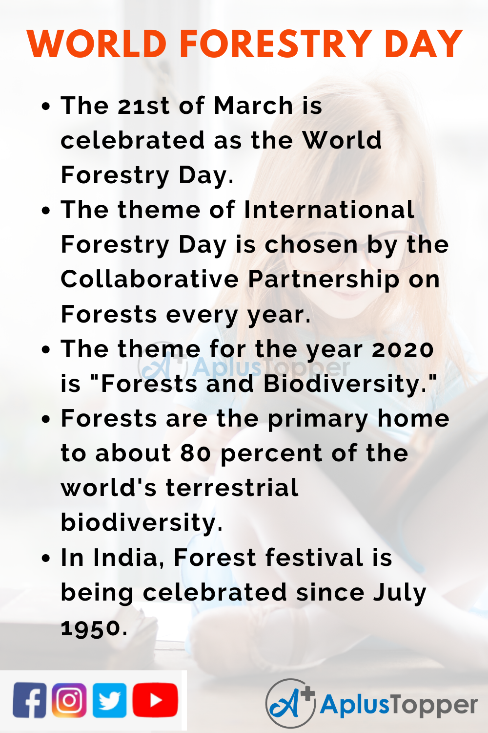 10 Lines on World Forestry Day for Higher Class Students