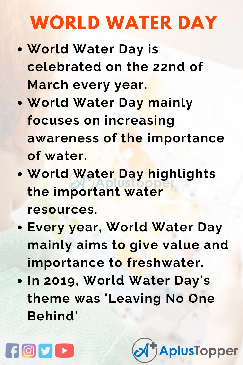10 Lines on World Water Day for Kids