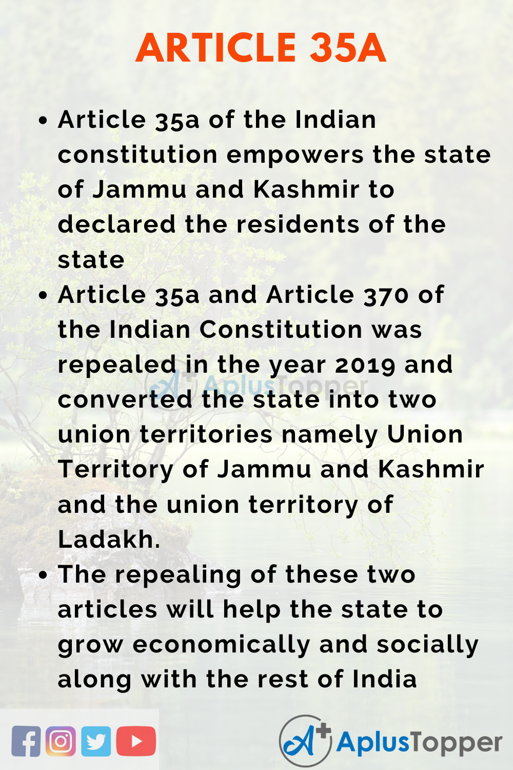 Article 35A of Indian Constitution Essay