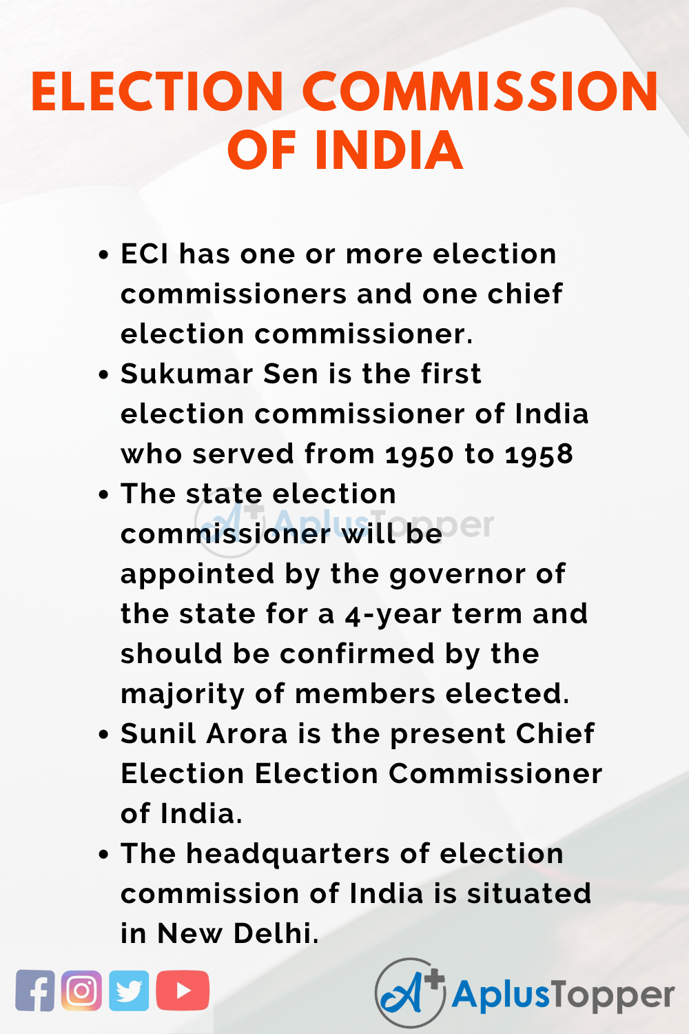 Essay about Election Commission of India