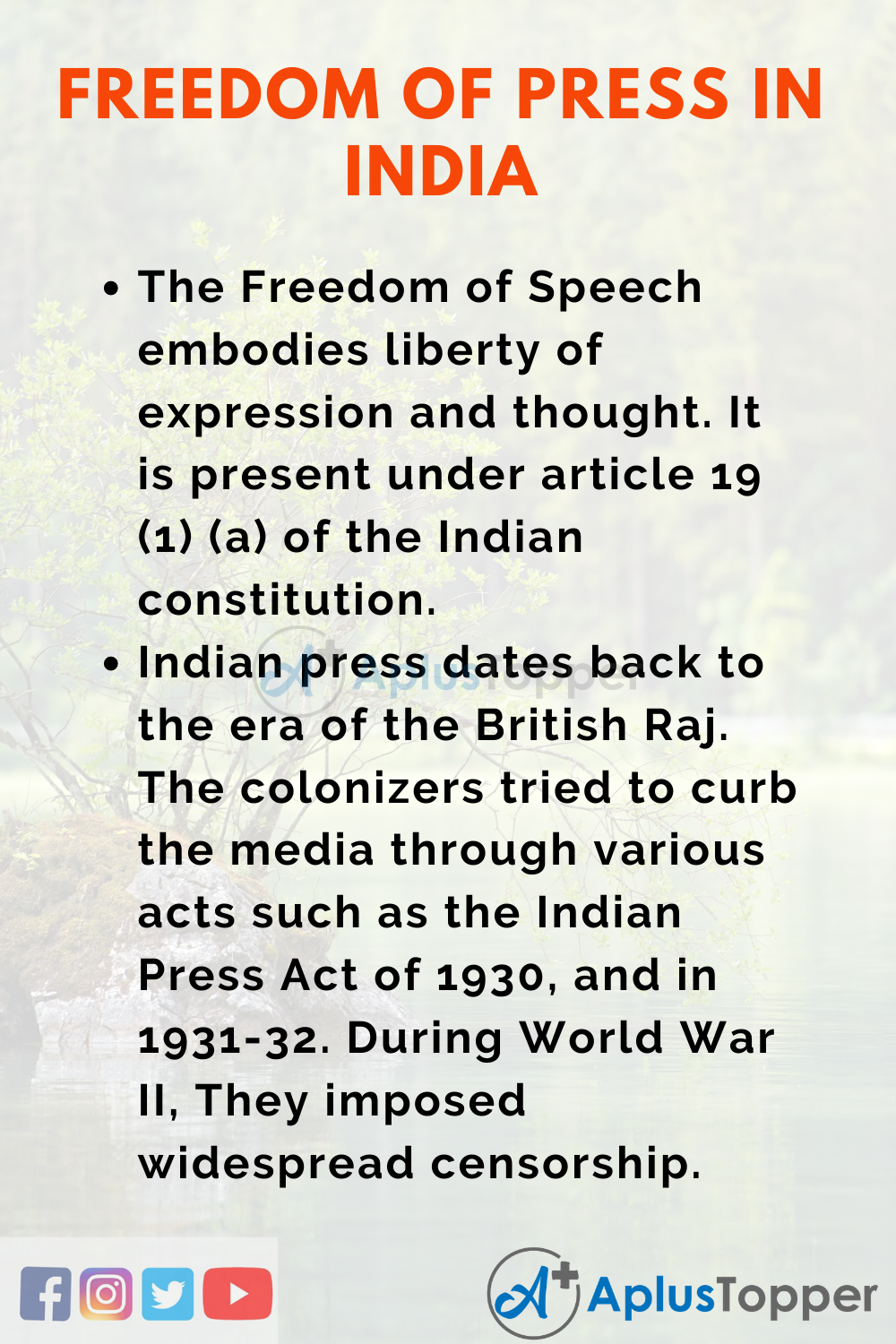 Essay about Freedom of Press in India