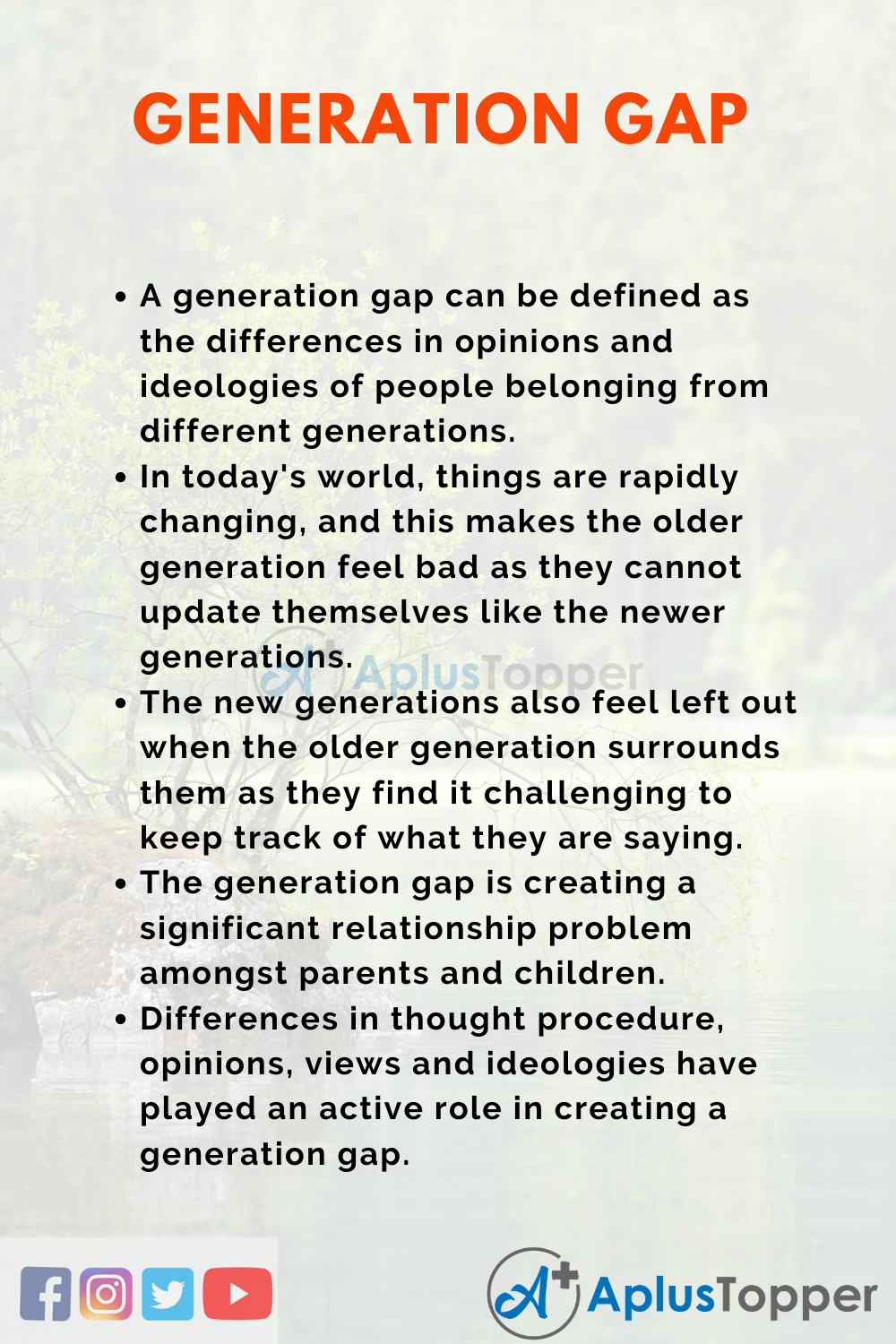 Essay about Generation Gap
