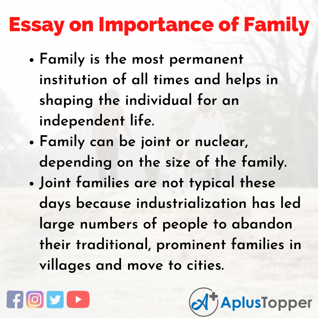 Essay about Importance of Family