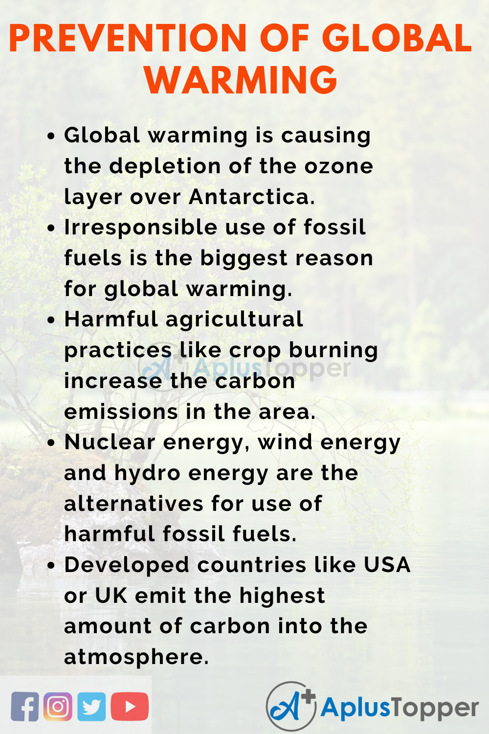 Essay about Prevention of Global Warming