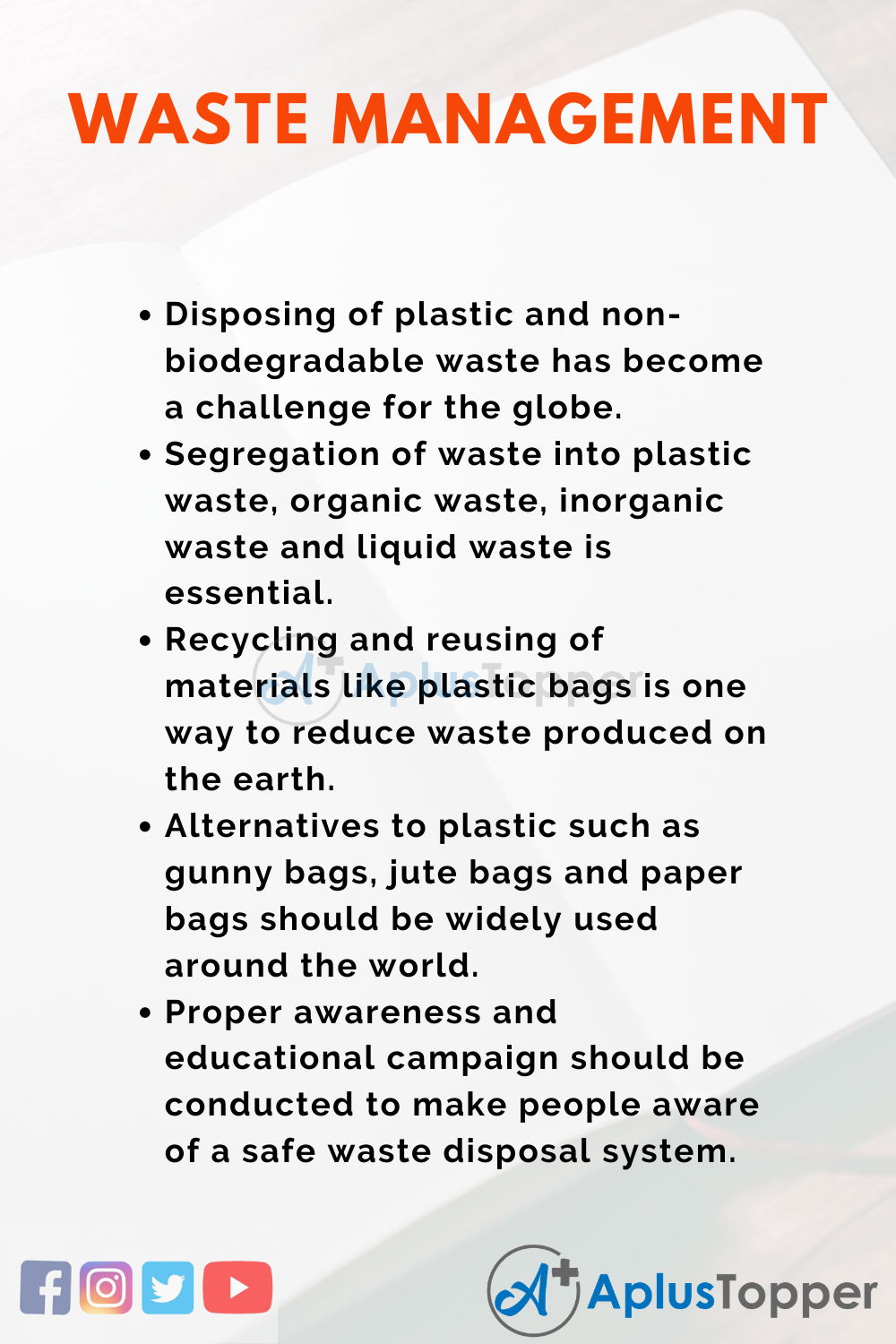 Essay about Waste Management