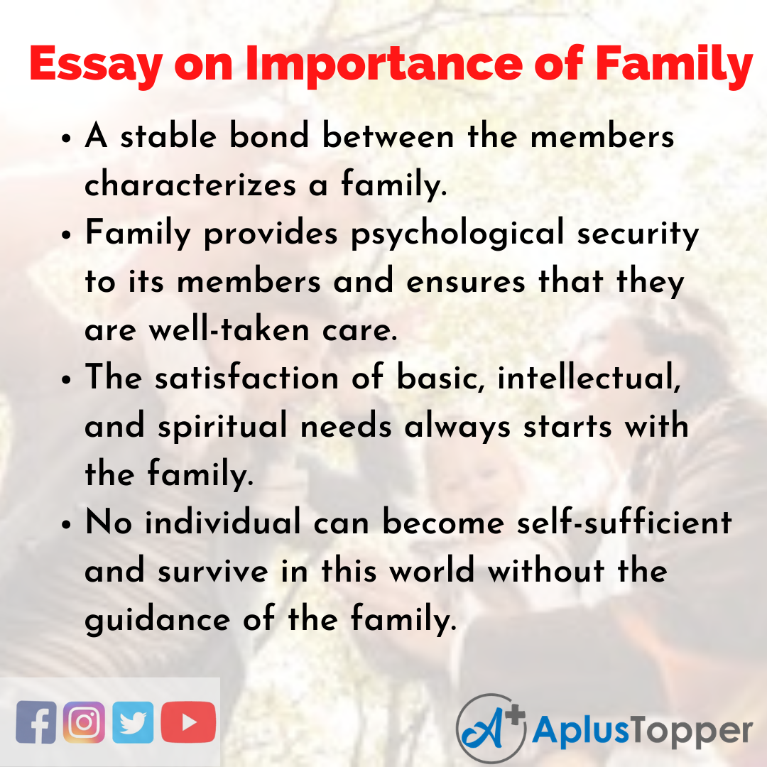 Essay for Importance of Family