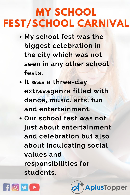 Essay on My School Fest_School Carnival