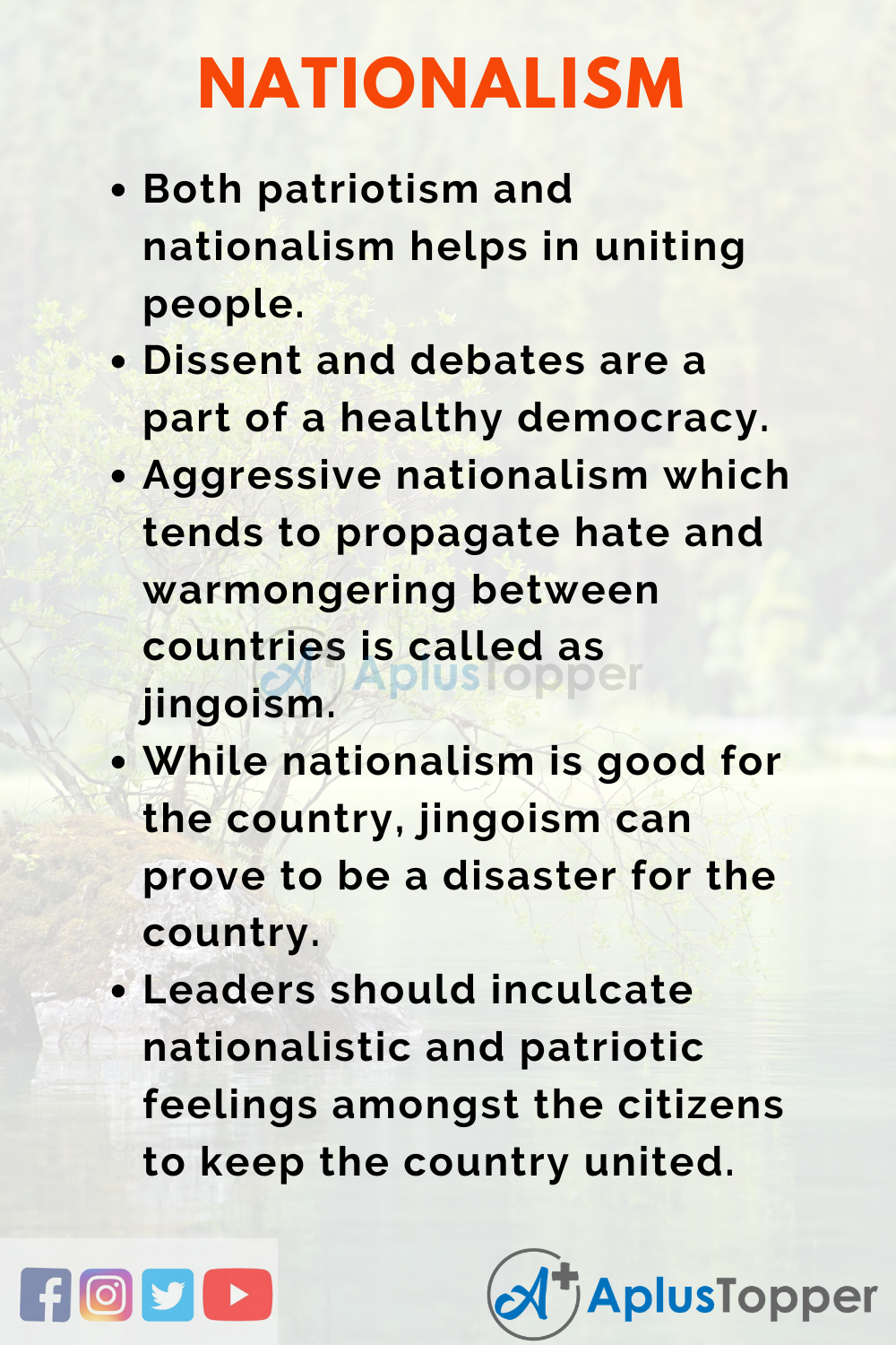 Essay on Nationalism