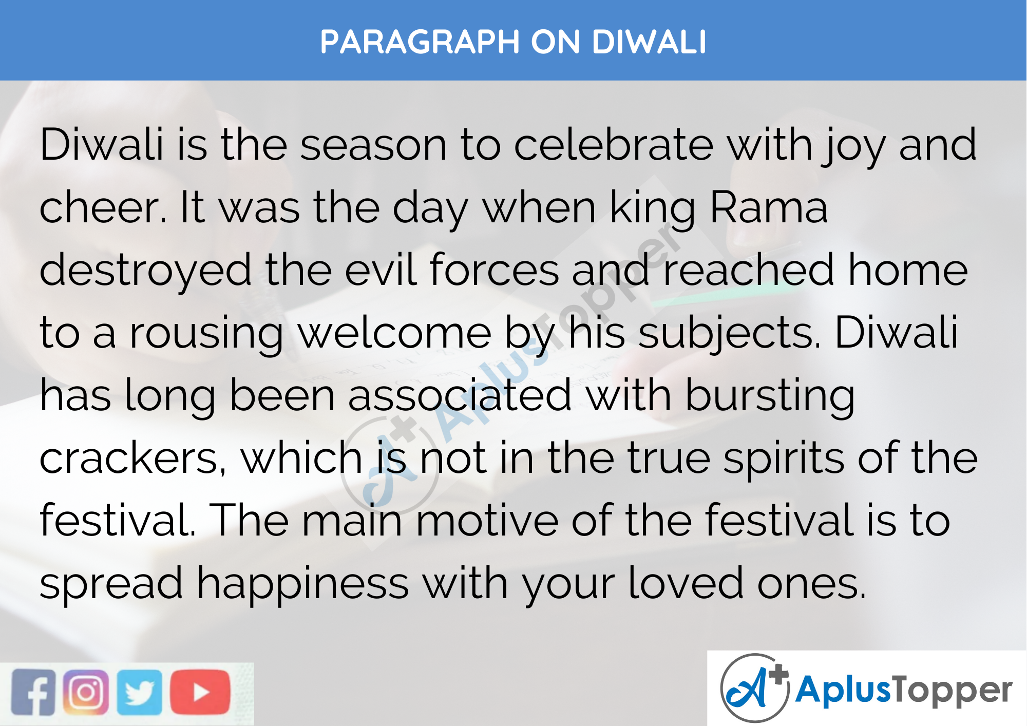 Paragraph on Diwali - 250 to 300 Words for Classes 9, 10, 11, 12 and Competitive Exams Students