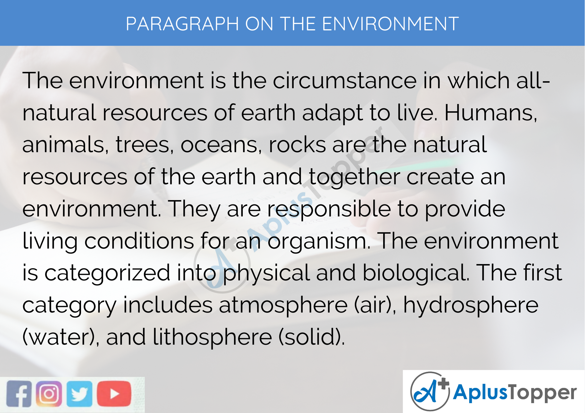 Paragraph on the Environment