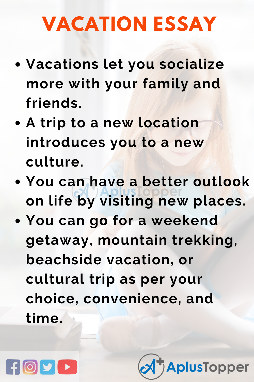 Vacation Essay