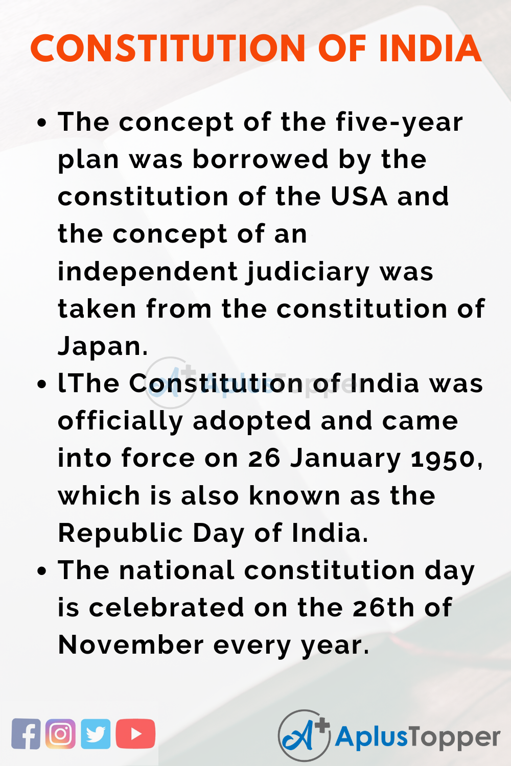 essay about Constitution of India