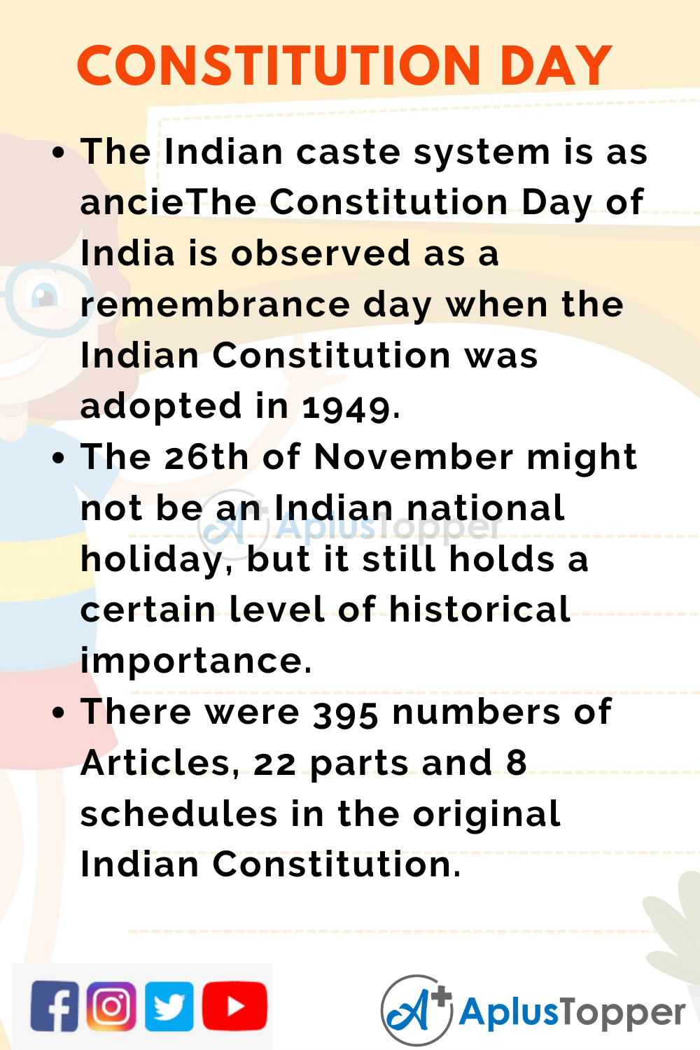 20 Lines On Constitution Day for Students and Children in English ...