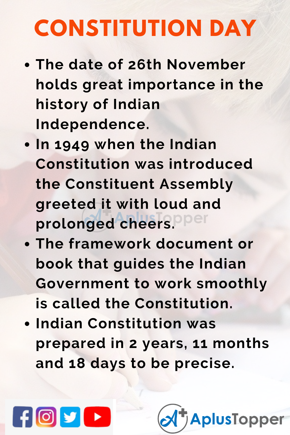 10 Lines On Constitution Day for Kids