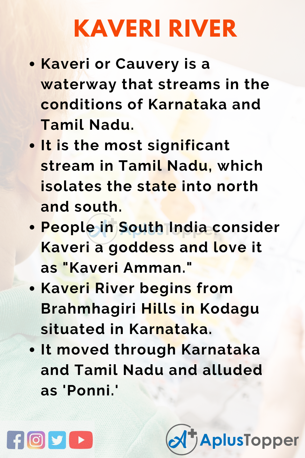 10 Lines On Kaveri River for Higher Class Students