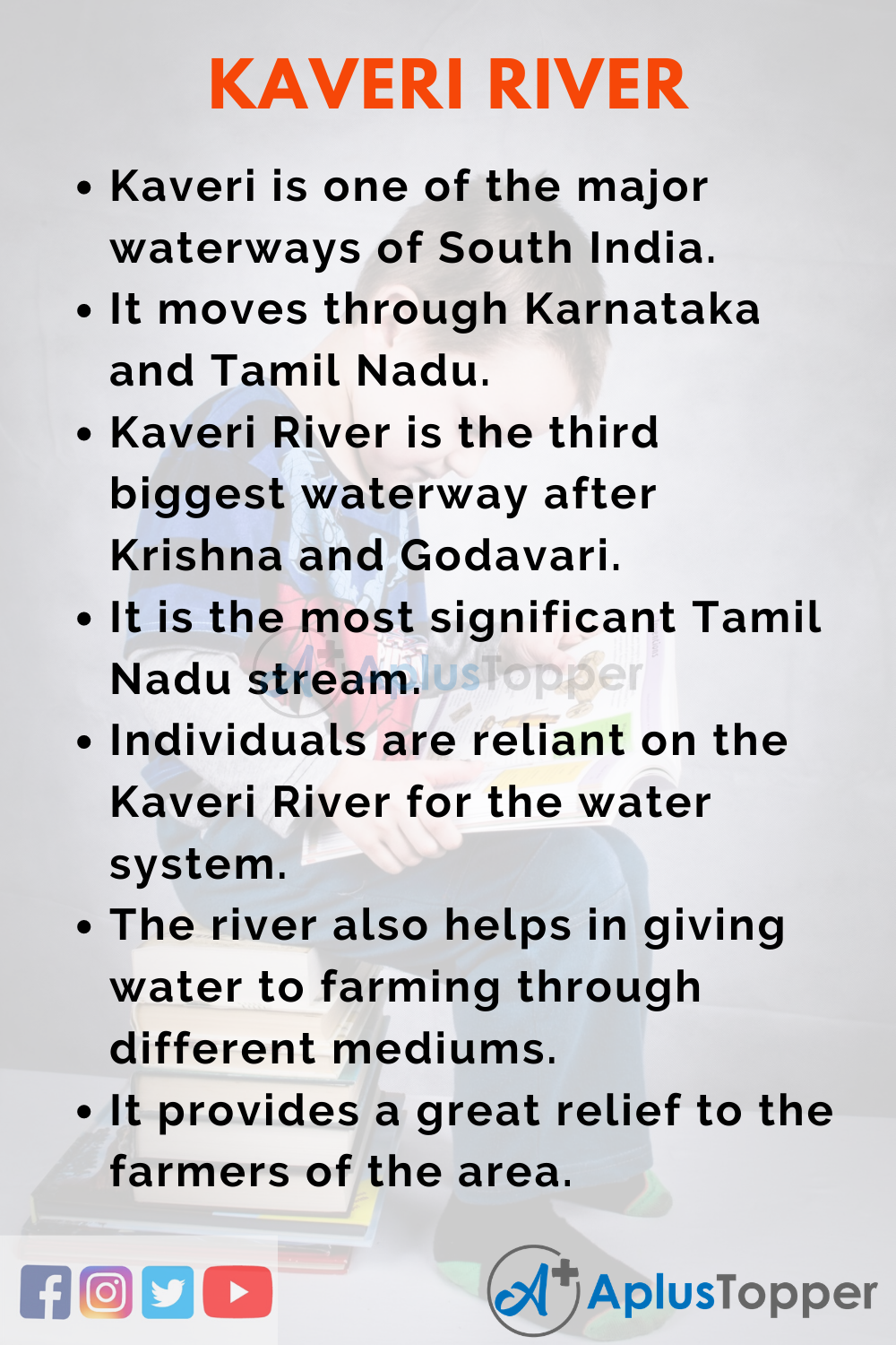 10 Lines On Kaveri River for Kids