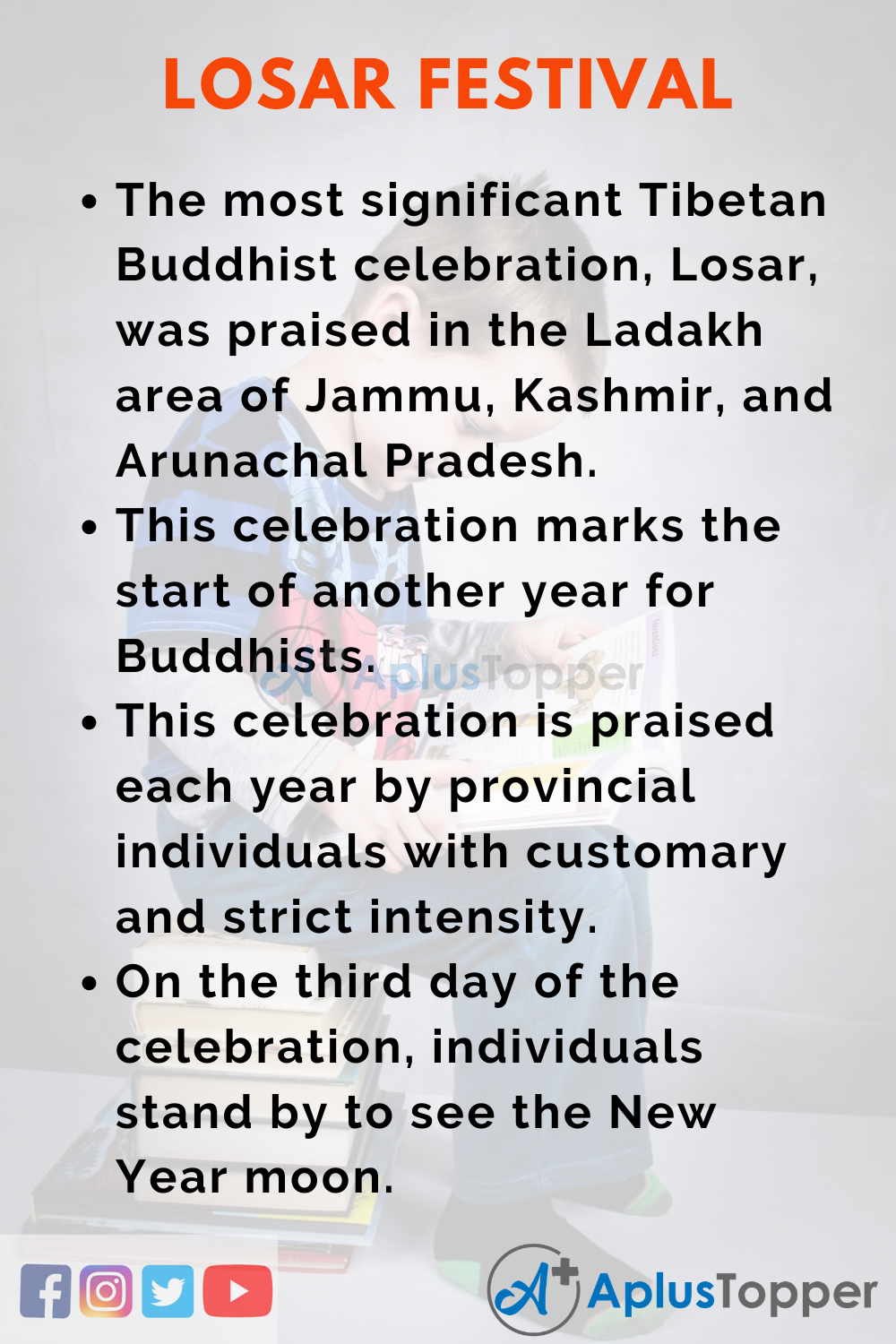 10 Lines On Losar Festival for Higher Class Students
