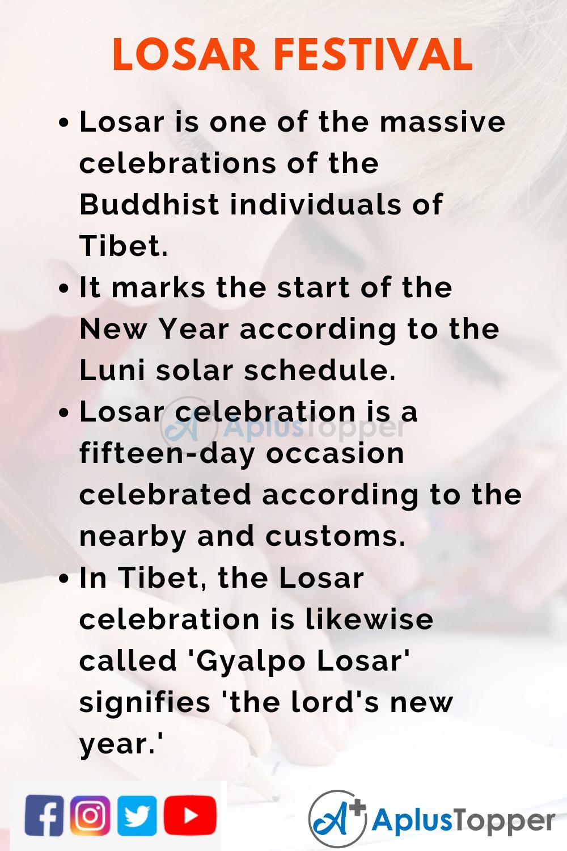 10 Lines On Losar Festival for Kids