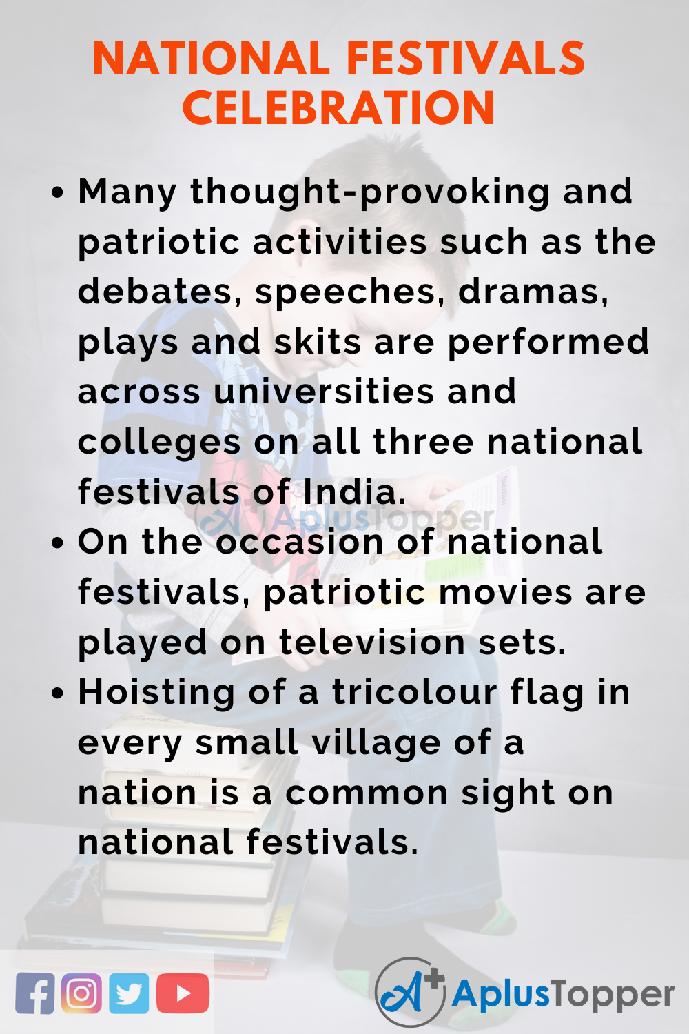10 Lines On National Festivals Celebration for Higher Class Students