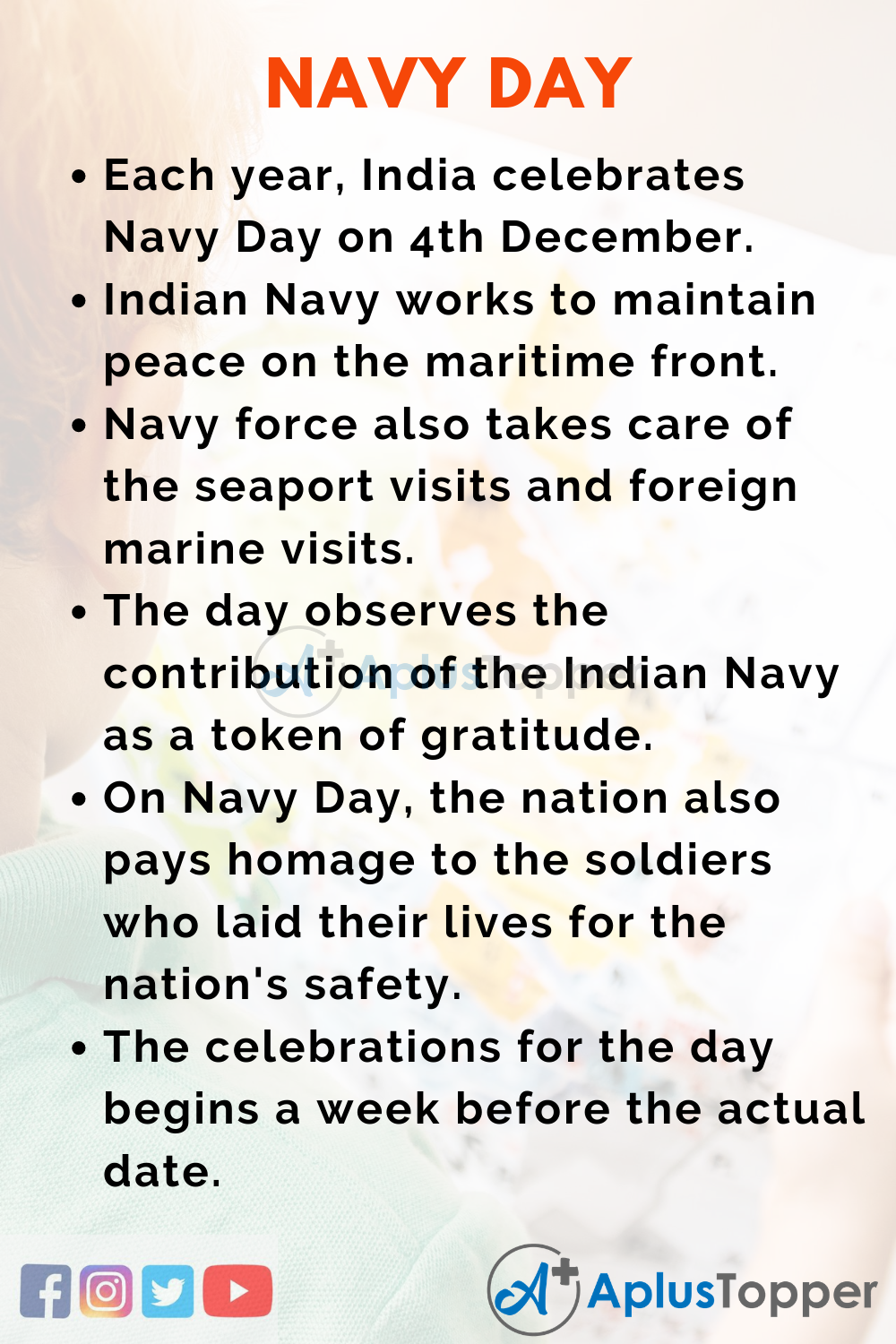 10 Lines On Navy Day for Kids