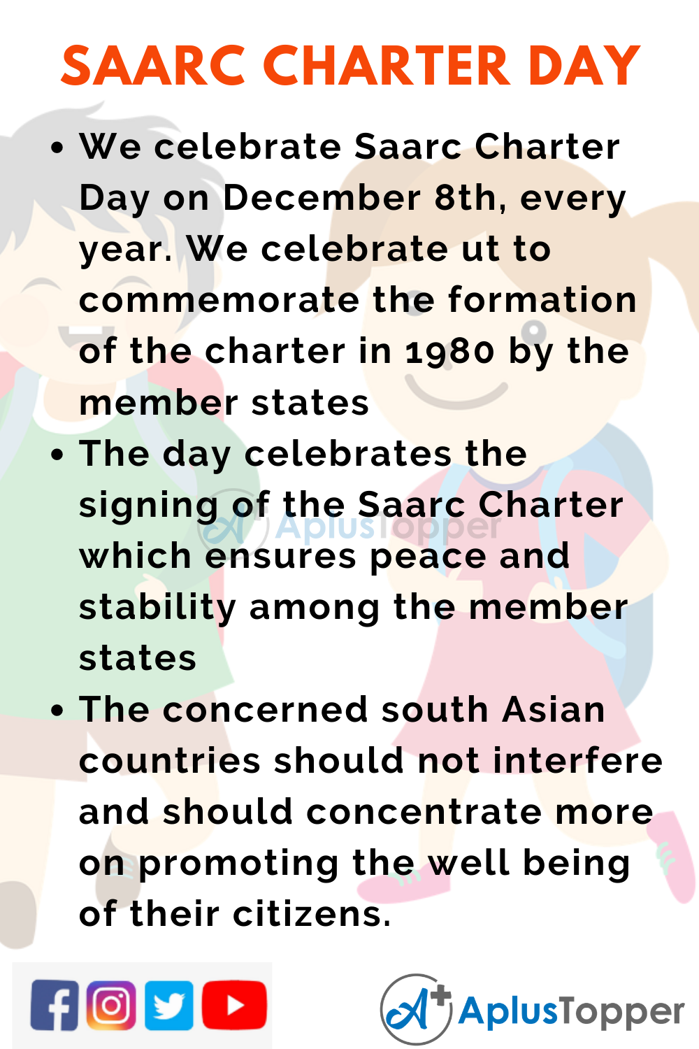 10 Lines On Saarc Charter Day for Higher Class Students