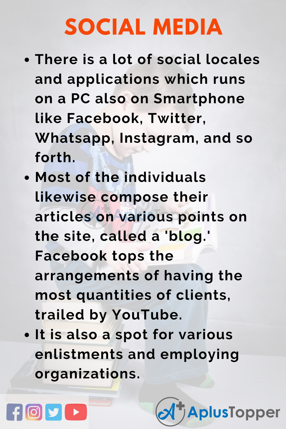 10 Lines On Social Media for Higher Class Students