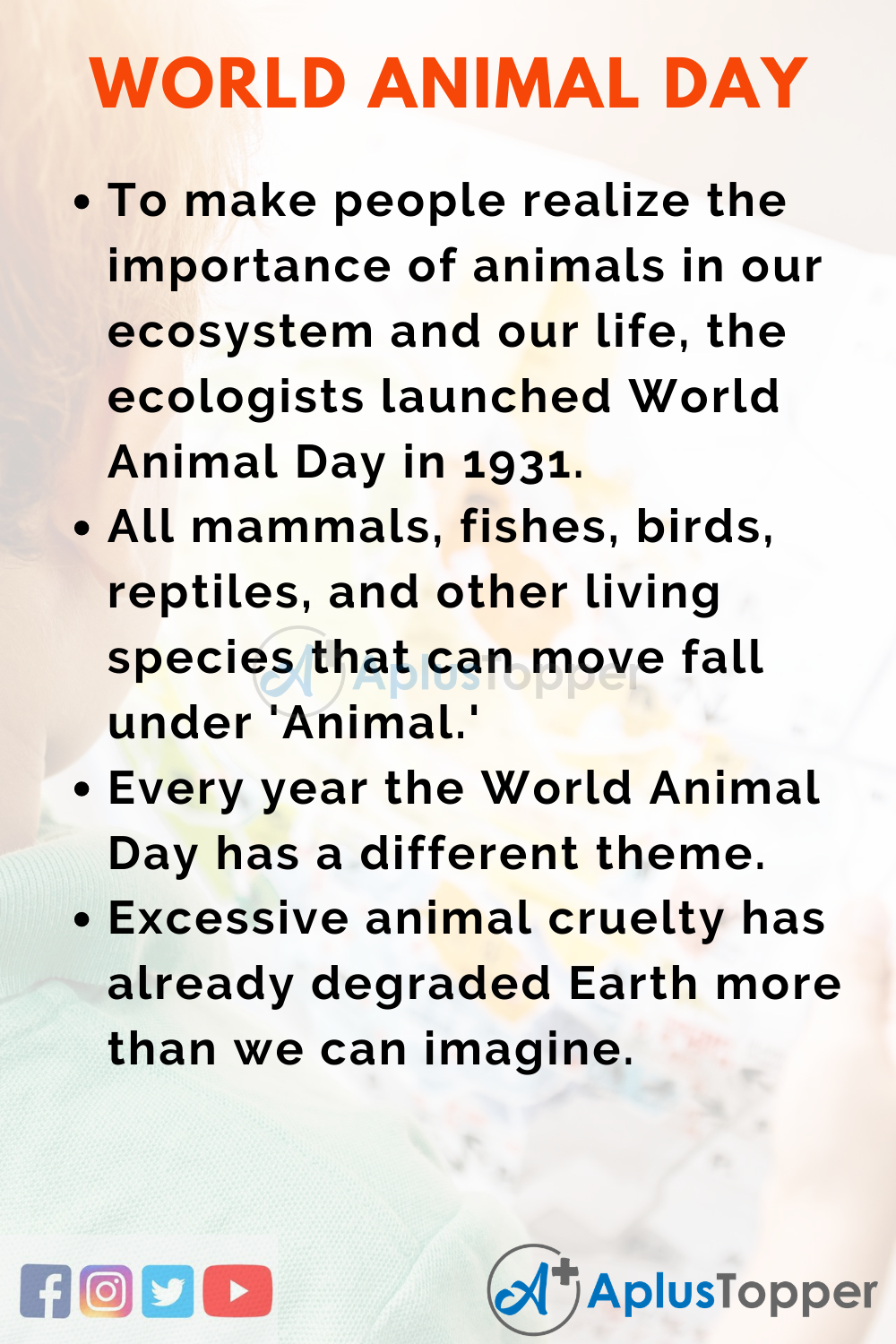 10 Lines On World Animal Day for Kids