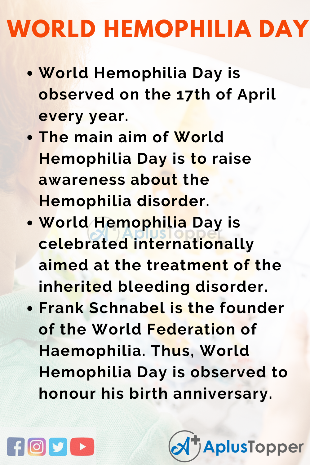 10 Lines On World Hemophilia Day for Kids