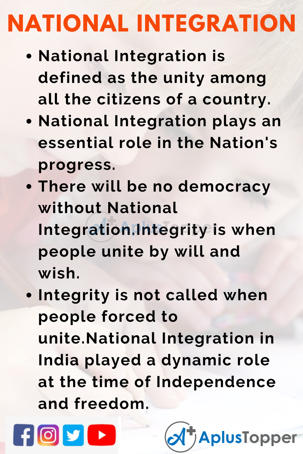 10 Lines about National Integration