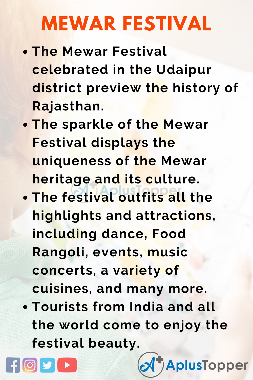 10 Lines for Mewar Festival
