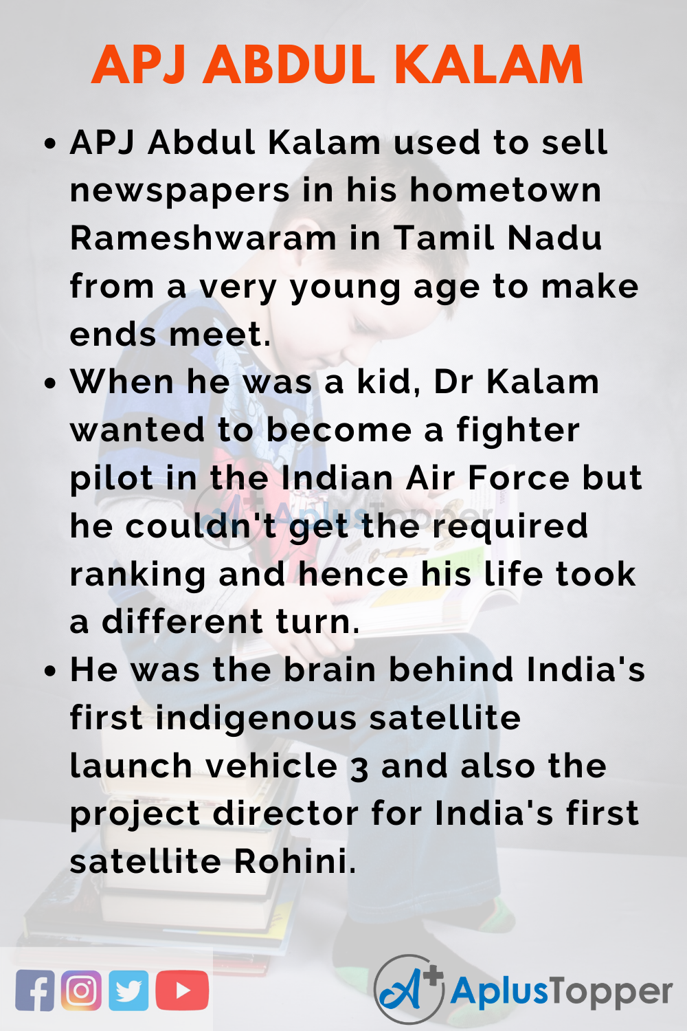 10 Lines on APJ Abdul Kalam for Higher Class Students