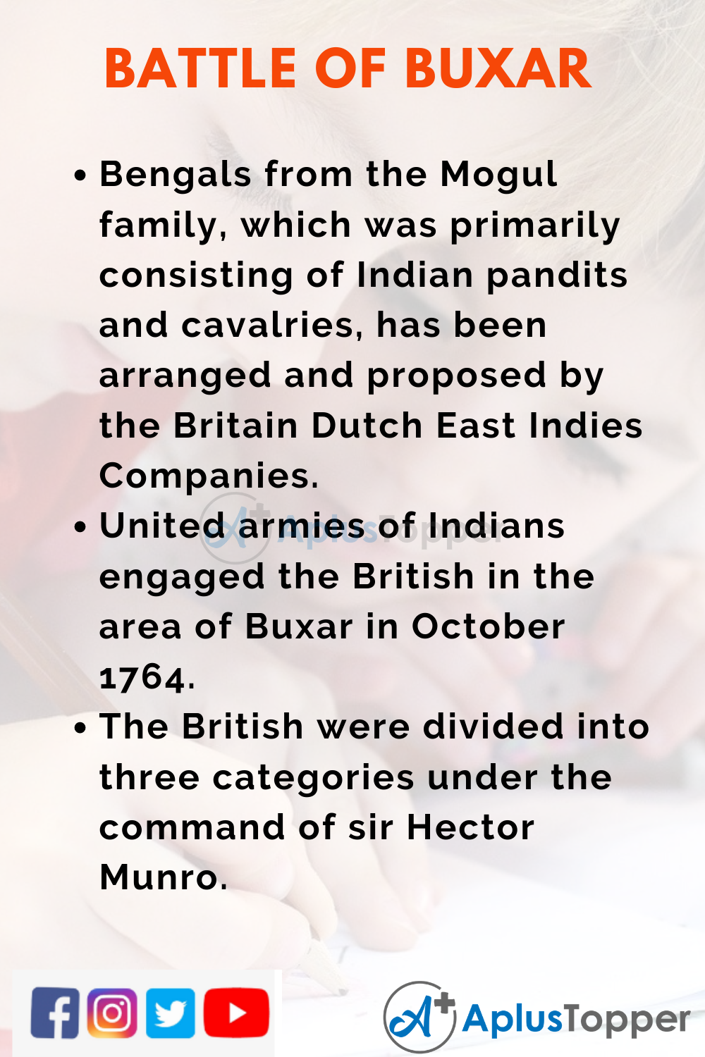 10 Lines on Battle of Buxar for Higher Class Students