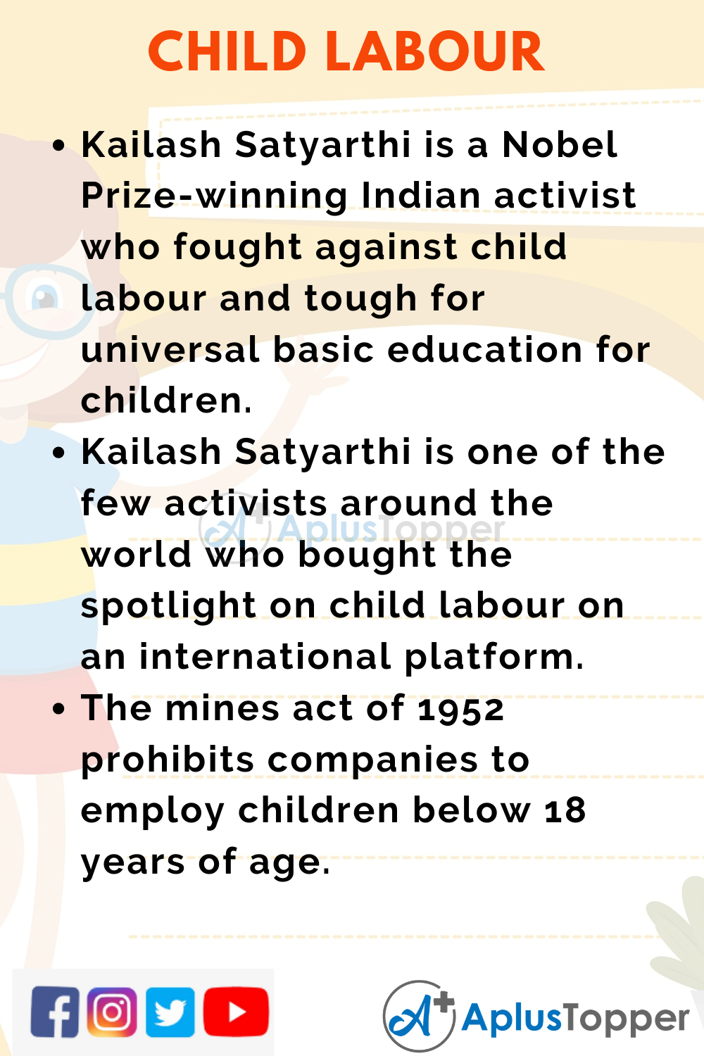 10 Lines on Child Labour for Higher Class Students