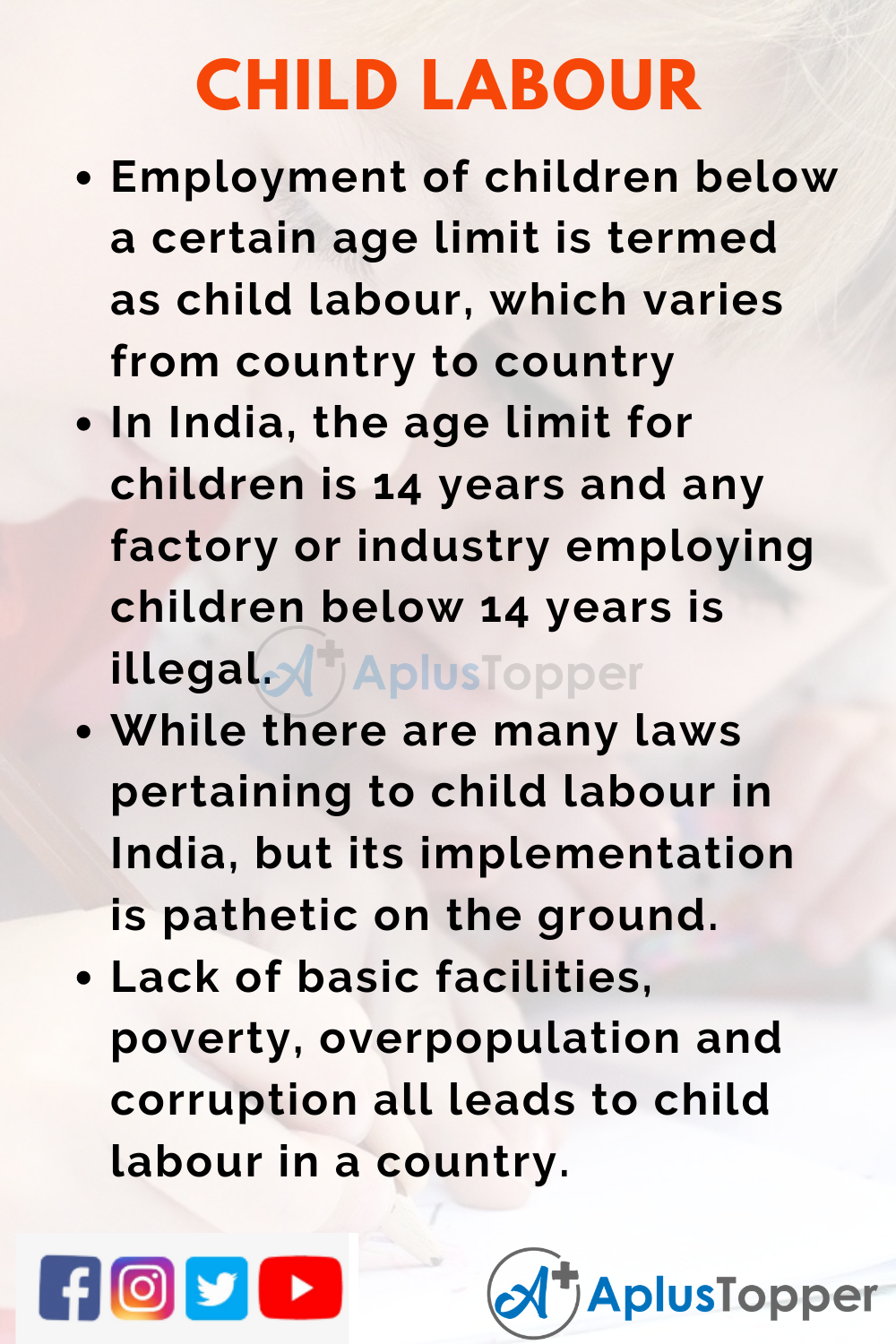 10 Lines on Child Labour for Kids