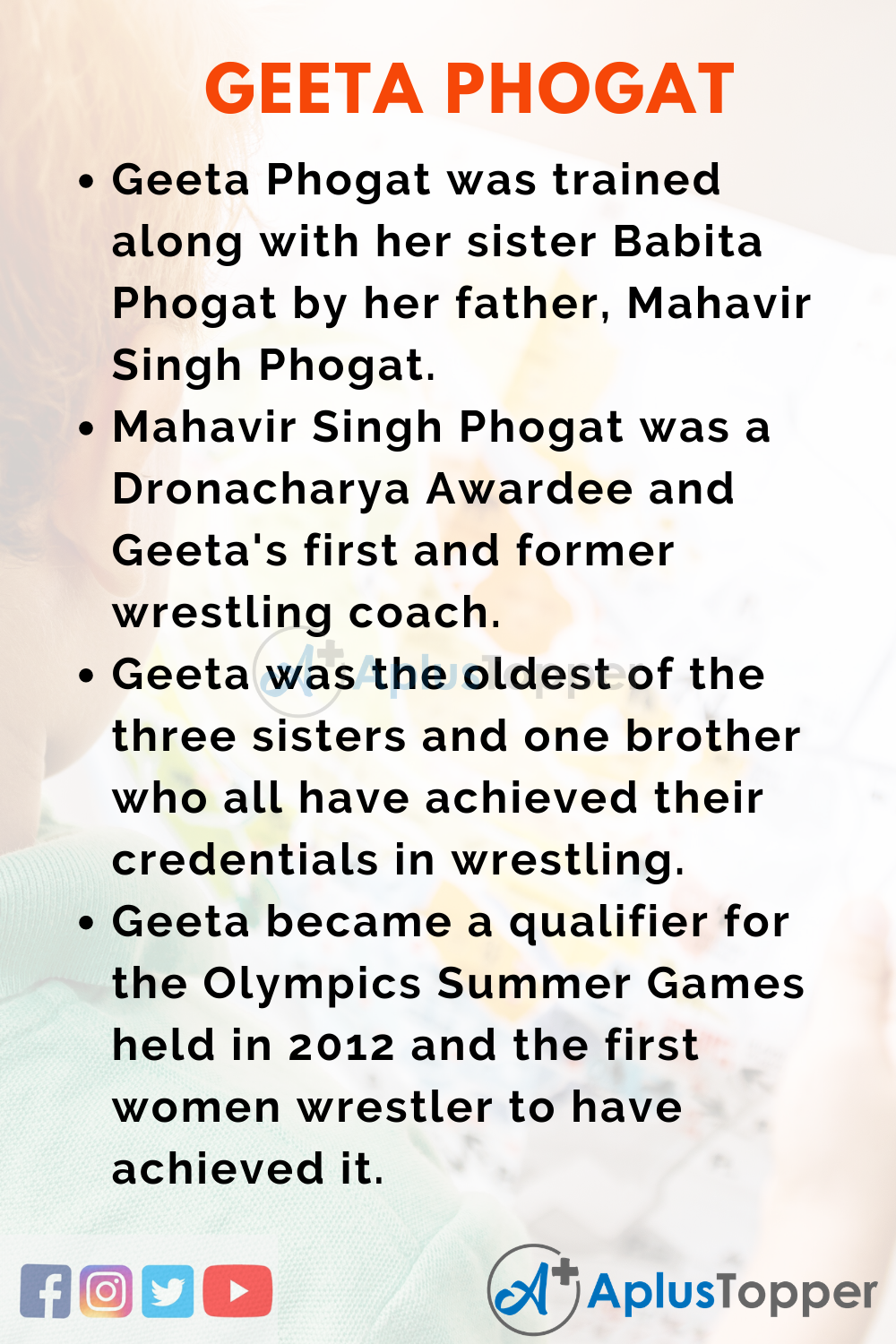 10 Lines on Geeta Phogat for Higher Class Students