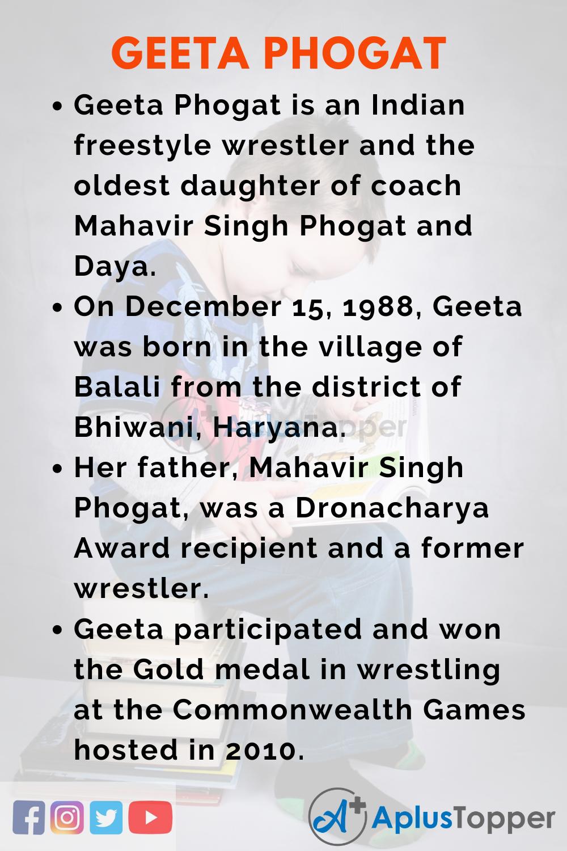 10 Lines on Geeta Phogat for Kids