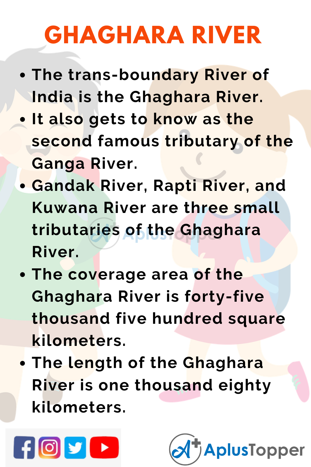 10 Lines on Ghaghara River for Kids