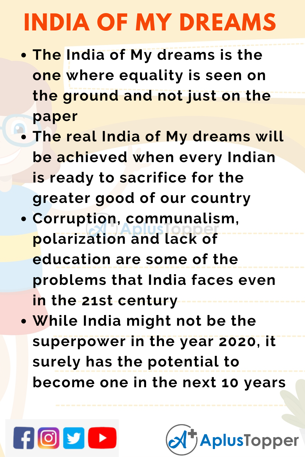 10 Lines on India of My Dreams for Kids
