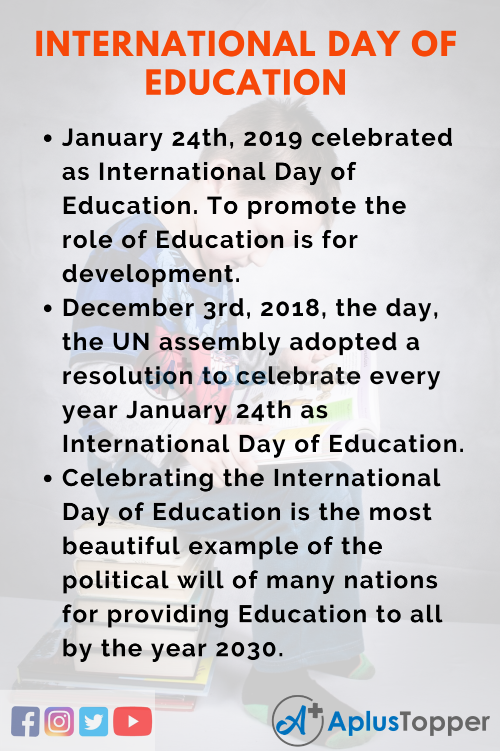10 Lines on International Day of Education for Kids