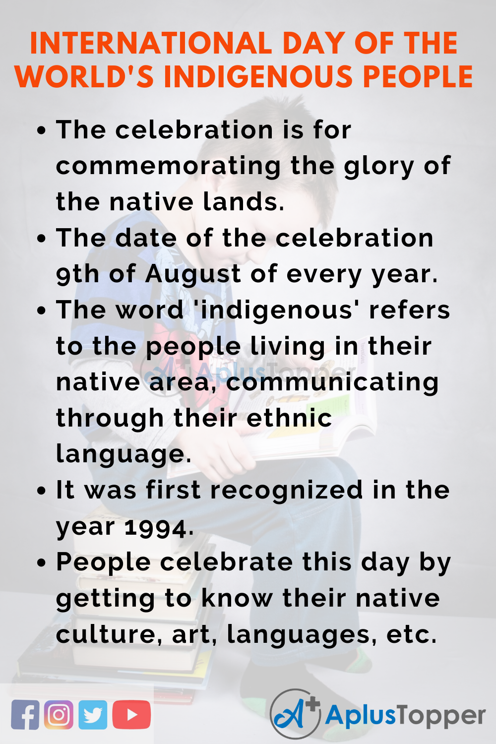 10 Lines on International Day of the World's Indigenous People for Kids