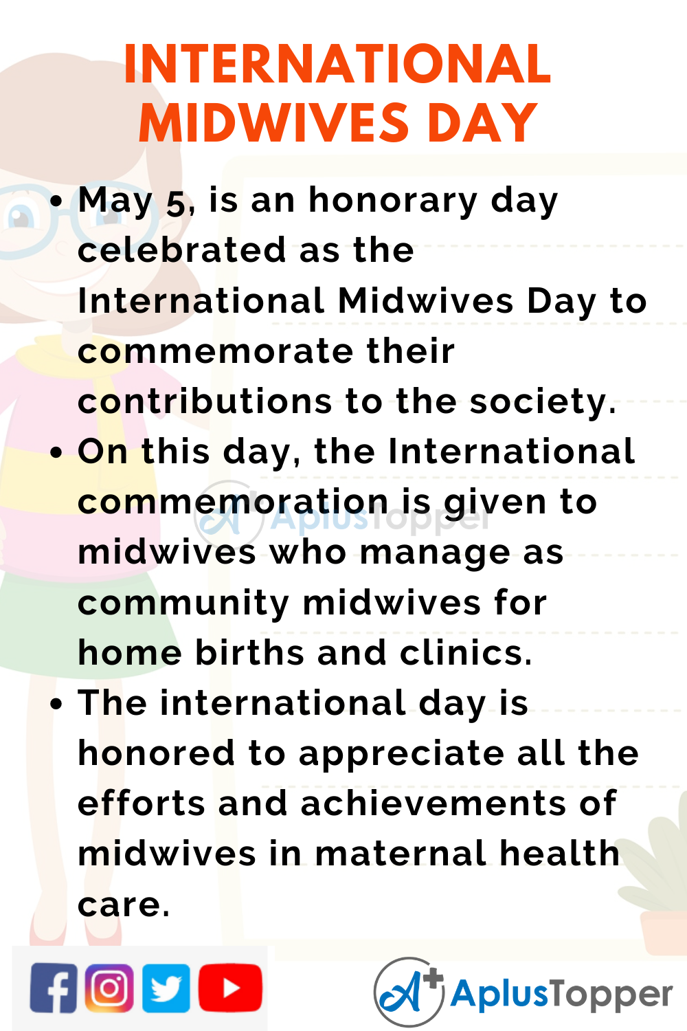 10 Lines on International Midwives Day for Higher Class Students