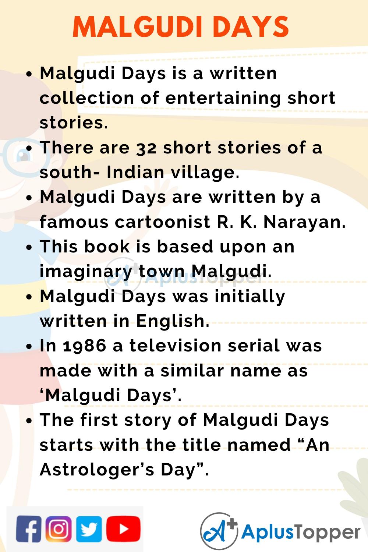 10 Lines on Malgudi Days for Kids