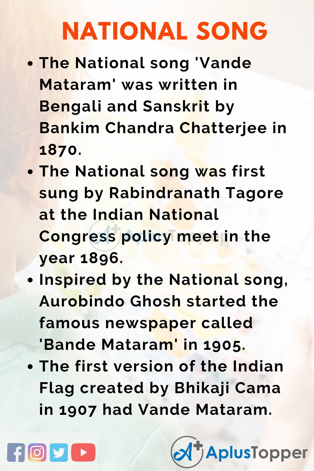 10 Lines on National Song for Higher Class Students