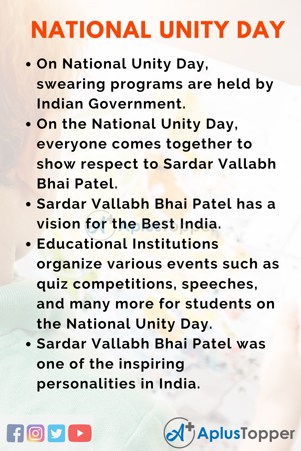 10 Lines on National Unity Day for Kids